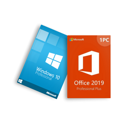 Windows 10 Professional + Microsoft Office 2019 Professional Plus